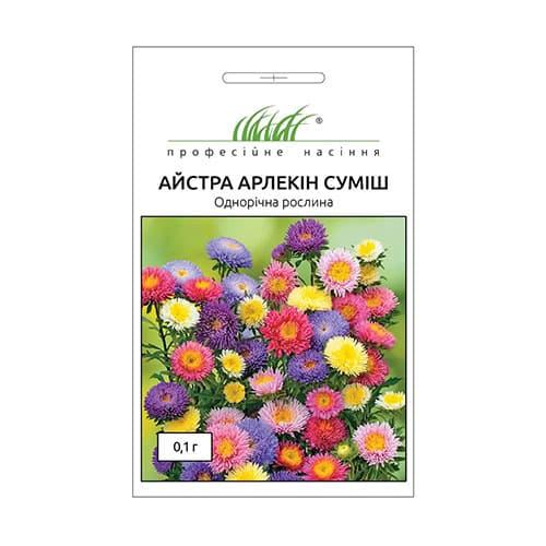 Астра Арлекин, смесь окрасок Профессиональные семена рисунок 1 артикул 72008