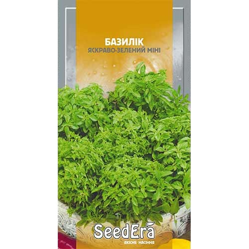 Базилик Мини ярко-зеленый Seedera рисунок 1 артикул 90030