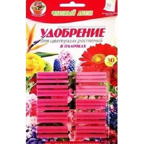 Удобрение Чистый Лист палочки для цветущих растений рисунок 1 артикул 77374