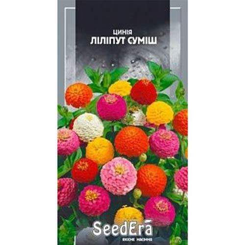 Цинния Лилипут, смесь окрасок Seedera рисунок 1 артикул 90005