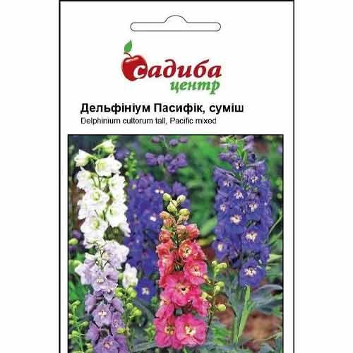 Дельфиниум Пасифик, смесь окрасок Садыба центр рисунок 1 артикул 72996