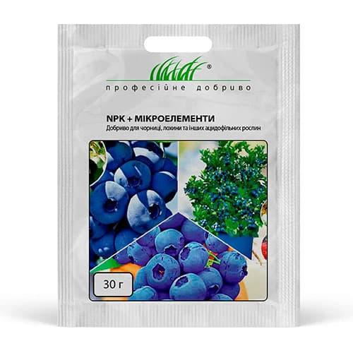 Удобрение NPK + микроэлементы для черники, голубики, брусники рисунок 1 артикул 90992