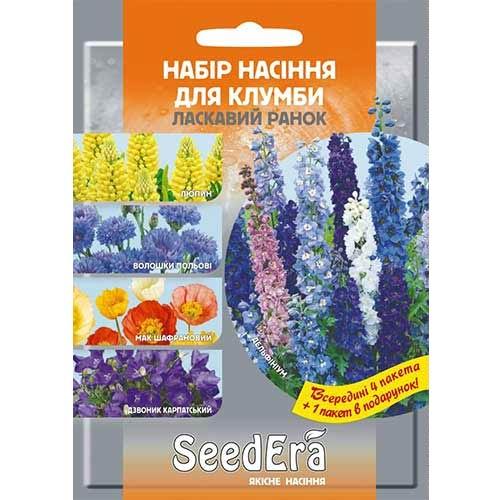 Набор семян цветов Ласковое утро из 5 упаковок, смесь окрасок Seedera рисунок 1 артикул 89907
