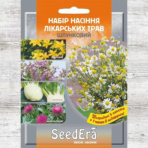 Набор семян Лекарственные травы Желудочный из 5 упаковок, смесь сортов Seedera рисунок 1 артикул 89912