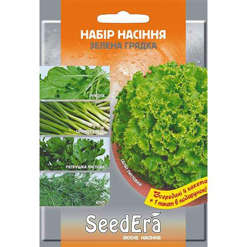 Набор семян Зеленая грядка из 5 упаковок, смесь сортов Seedera рисунок 1 артикул 89906