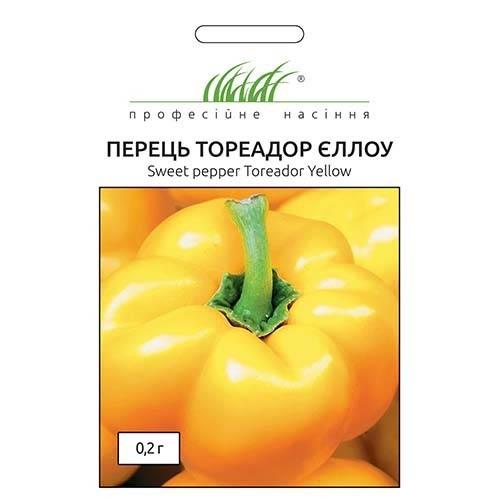 Перец сладкий Тореадор Йеллоу Профессиональные семена рисунок 1 артикул 90350