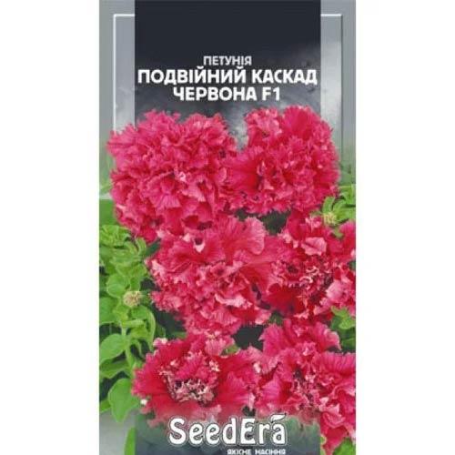 Петунія Подвійний Каскад червона F1 Seedera зображення 1 артикул 66428