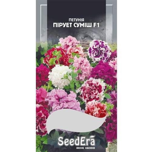 Петунія бахромчаста Пірует F1, суміш забарвлень Seedera зображення 1 артикул 66285