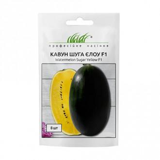 Кавун Шуга Єлоу F1 Професійне насіння зображення 2