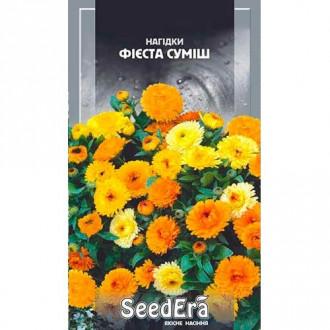 Нагідки (календула) Фієста, суміш забарвлень Seedera зображення 6