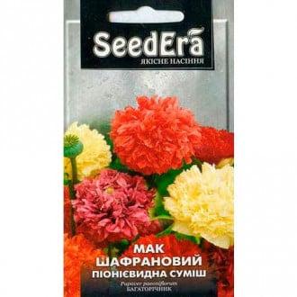 Мак шафрановый Виктори, смесь окрасок Seedera рисунок 4