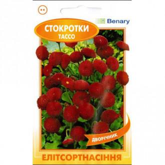 Маргаритка Тассо красная F1 Элитсорт рисунок 1