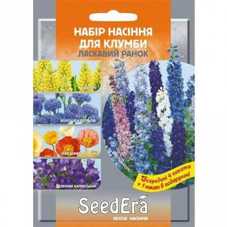 Набір насіння квітів Ласкавий ранок з 5 упаковок, суміш забарвлень Seedera зображення 4
