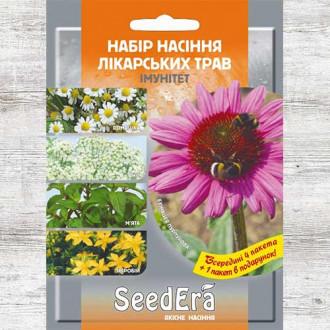 Набір насіння Лікарські трави Імунітет з 5 упаковок, суміш сортів Seedera зображення 1