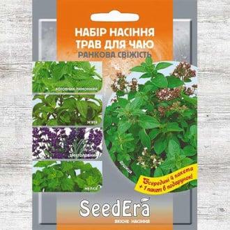 Набор семян Травы для чая Утренняя свежесть из 5 упаковок, смесь сортов Seedera рисунок 1