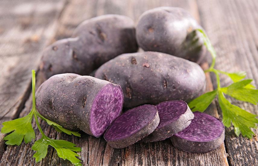 фіолетова картопля користь як вирощувати